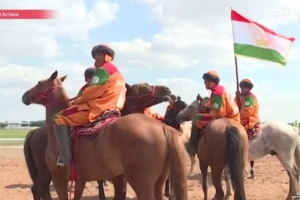 "At the ""Goat pulling"" (Buzkashi) Republic of Tajikistan took the third place"